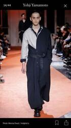 Yohji Yamamoto Rour Homme 18aw Wool Long Coat With Belt Mens Size M F/s From Jp