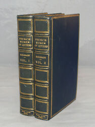 Antique Leather Book Set French Women Of Letters By Julia Kavanagh London 1862