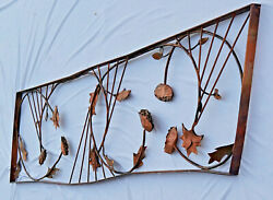Hand Forged Copper, 7 Feet, Large Original Jere Style Wall Art, Free Pickup