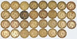Lot Of 31 1948 Great Britain Three Pence Key Date Coins 3d Uk
