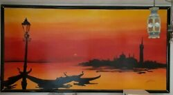 Original Acrylic Painting Titled Venice 8and039 X 4and039 For Large Space