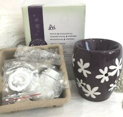 Scentsy Warmer Plug In Lei Purple amp; White BRAND New Original Box amp; Packaging