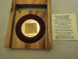 1987 Pomegranates-blossom Of Galilee By N. Guttman Color State Medal 1 Oz Gold