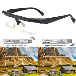 Dial Adjustable Glasses Variable Focus For Reading Distance Vision Eyeglasses US $14.27