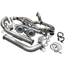 Cxracing Twin Turbo Kit For 79-93 Ford Foxbody Mustang 5.0l Dual Gt35 900 Hp