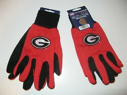 Two Pair Of Georgia Bulldogs , Sport Utility Gloves From Forever Collectables