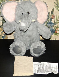 Aroma Home Gray Grey Elephant Plush Stuffed Animal Lovey with Scent Pak Pack 13quot;