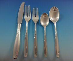 Willow By Gorham Sterling Silver Flatware Service For 8 Set 43 Pieces