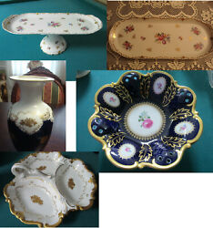 Reichenbach Germany 1950s Vanity Tray - Bowl - Footed Cake Plate - Vase Pick 1