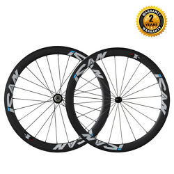 Ican 50mm Deep 23mm Wide 700c Carbon Clincher Road Bike Wheelset In The Usa