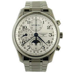 Longines L678.2 Master Collection Silver Dial Chrono Auto S.s. Mens Watch