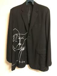 Yohji Yamamoto Pour Homme Black 16 Aw Rie Jacket Rare Good Condition Mens 2 F/s