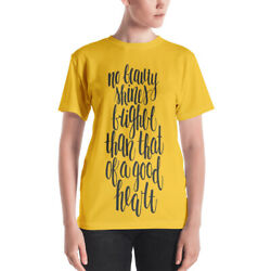 Women's T-shirt With Quote Yellow