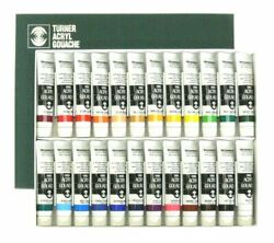 Turner Acryl Gouache Set of 24 20 ml Tubes
