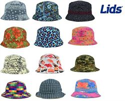 LIDS Reversible Printed Bucket Fishing Safari Hat MANY STYLES ALL SIZES $4.99