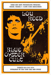 Lou Reed 1973 Concert Poster Print