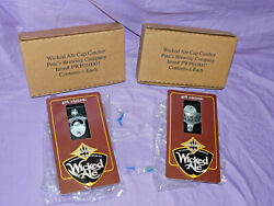 Lot Of 2 Pete's Wicked Ale Beer Bottle Opener And Cap Catcher Wall-mount Nib New