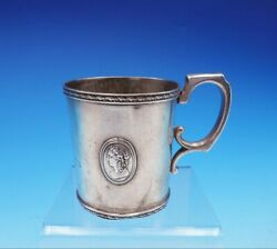 Medallion By John L. Westervelt Coin Silver Childand039s Cup 3 1/4 Tall 3547