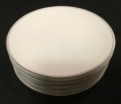 Set Of 9 Wedgwood Bone China Doric Pattern Silver Deco Rim Bread And Butter Plates