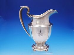 Queen Anne Plain By Dominick And Haff Sterling Silver Water Pitcher Ah30-64 3586