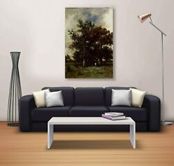Bedroom Tree Picture Wall Painting Canvas Print Portrait Multicolor Wall Art