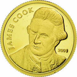 [449250] Coin, Cook Islands, 10 Dollars, 2008, Ms65-70, Gold, Kmnew