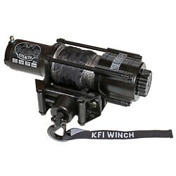 Kfi Se45w-r2 Stealth 4500lb Wide Winch 52ft Synthetic Cable