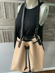 Stunning KEM Tan Bucket Bag Leather With Cosmetic Case $50.99