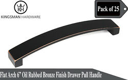 Set Of 25 - Flat Arch 6' Oil Rubbed Bronze Drawer Bar Pull Handle