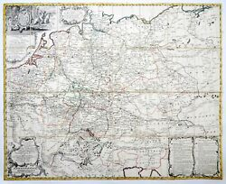 J. Von Bors - Homann Rare Separate Post Road Map Germany Netherlands Nw Europe