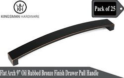 Set Of 25 - Flat Arch 9' Oil Rubbed Bronze Drawer Bar Pull Handle