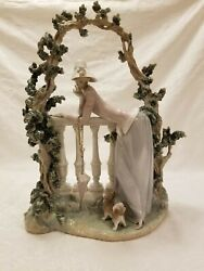 Lladro In The Balustrade Woman Sculpture 01008680. Just Beautiful.