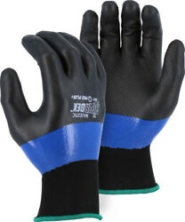 6 Pair Superdex Pro+ Double Dipped Nitrile Super Tough Work Gloves Blemished