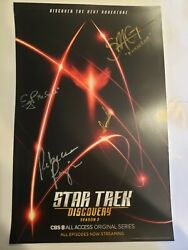 SDCC 2019 Exclusive STAR TREK DISCOVERY Season 2 signed Poster -very limited-