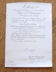 I213 Vatican Romania Order Of The Crown Ww2 Camagni Ernesto Papal Secr. Of State