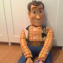 Disney Jumbo Size Woody Toy Story Plush Toy Collectible Over Sized Buzz Rare F/s