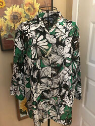 Samantha Grey 16 multi color button down 3 4 sleeve blouse. Free Shipping. $11.39