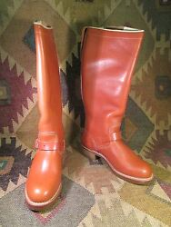 New Vintage Brown Browning Engineer Boots Size 8.5 D Made In Usa