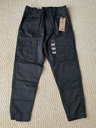 NWT Men's Levi's Charcoal Utility Cargo Pocket Tapered Jogger Pants SIZES S-2XL