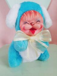 Rushton Cute Puppy Soft Vinyl Doll Usa Made 50s 60s Collectible Blue Smiling F/s