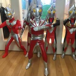 Ultraman Ace Ultraman A Large Figurine Soft Vinyl Collectible Abc Toy Japan F/s