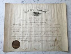 Antique John Wanamaker Signed Post Office Postmaster Appointment Document 1891