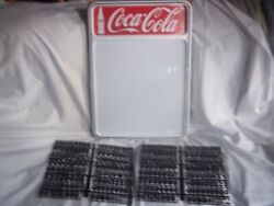 New Coca-cola Menu Board Sign W/2 Sets Of Letters And Numbers.
