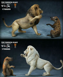 Mr.Z 112 Decor Thunderfury African Lion&Spotted Hyena Animal Figurine Statue