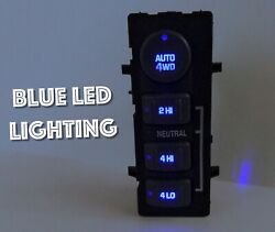 99-02 4wd Dash Switch Chevy Silverado Sierra Yukon Blue Led