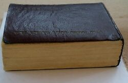 Antique Book Bible Printed 1953 50mmx40mm Miniature. Collectible For Protaction.