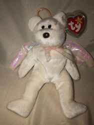 Ty Beanie Baby Halo The Bear 1998 5th Generation Gasport Tag Error No Butt Stamp