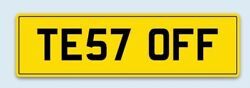 Private Plate Cherished Number Registration Te57 Off Funny Mot Mechanic Test