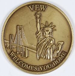 Vfw Challenge Coin Veterans Of Foreign Wars Service-sacrifice Medal 40mm