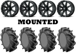 Kit 4 High Lifter Outlaw 3 Tires 31x9-16 On Msa M33 Clutch Matte Black Fxt